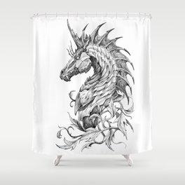 Dark Side Unicorn Shower Curtain