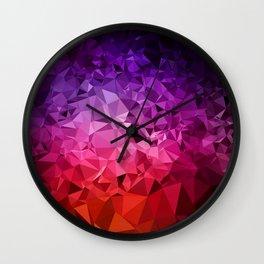 Ultra Violet Diamond Rainbow Wall Clock