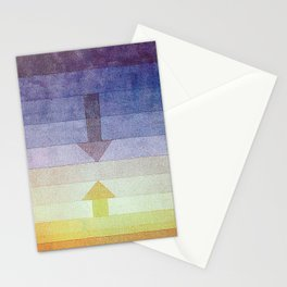 Separation in the Evening by Paul Klee 1922 // Sunset Abstract Minimalism Sun and Darkness Stationery Cards