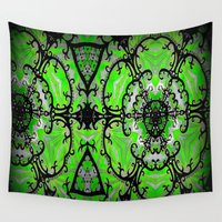 emerald Wall Tapestries featuring Emerald by Erin Brekke Conn