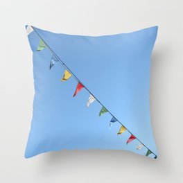 Colorful and minimal party Throw Pillow