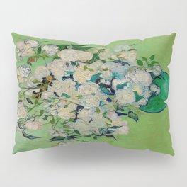 White Rose In A Vase Vincent van Gogh 1890 Oil on Canvas Still Life With Floral Arrangement Pillow Sham