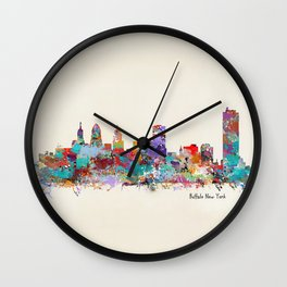 buffalo city new york Wall Clock