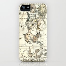 Orion, Lepus, Columba Constellations, Celestial Atlas Plate 23, Alexander Jamieson iPhone Case