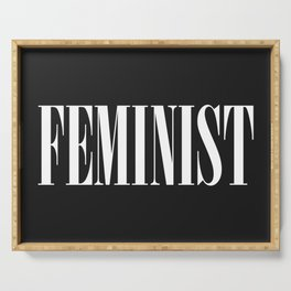 Feminist Quote Serving Tray