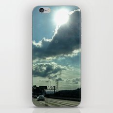 Admiring the clouds. iPhone & iPod Skin