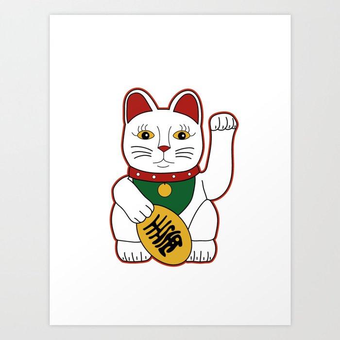 Maneki Neko - lucky cat Art Print