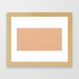 Skin Style Texture With Freckles Framed Art Print
