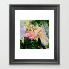 bouquet and vase Framed Art Print