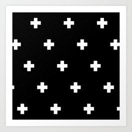 Cross Wall Black Art Print