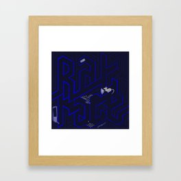 Rat race Framed Art Print