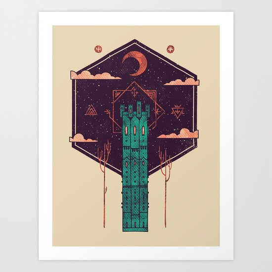 The Tower Azure Art Print