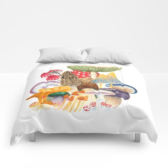 Woodland Mushroom Society Comforters