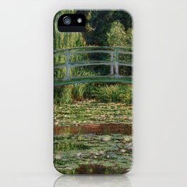 "Claude Monet ""The Japanese Footbridge and the Water Lily Pool, Giverny"" iPhone Case"