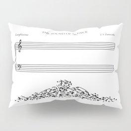 The Sound of Silence (Mono) Pillow Sham