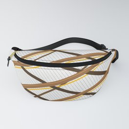 Deco Stripes Brown Fanny Pack