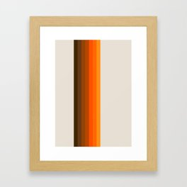 Retro Golden Rainbow - Straight Framed Art Print