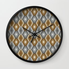 Diamond Outline Pattern Wall Clock