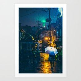 Euljiro in the rain Art Print