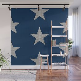 Knitted Stars Wall Mural