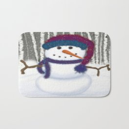 Puffy The Snowman Bath Mat