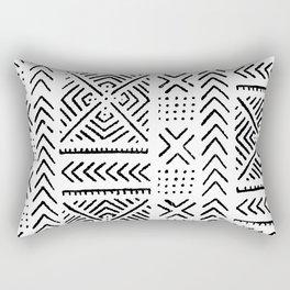 Line Mud Cloth Rectangular Pillow