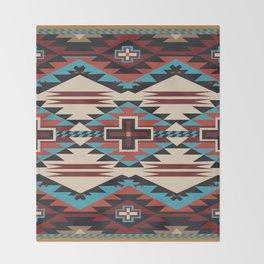 American Native Pattern No. 67 Throw Blanket