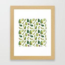 Avocado Pattern Framed Art Print