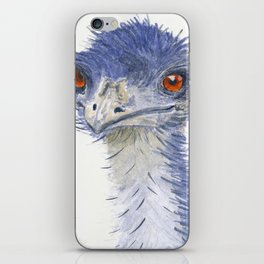 emu watercolour iPhone Skin