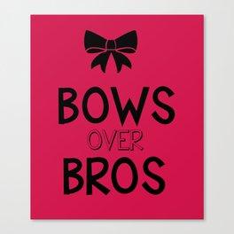 Bows over bros Canvas Print