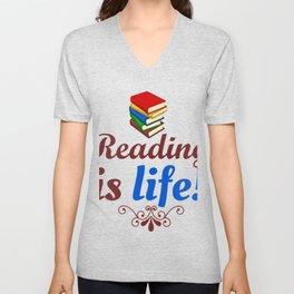 Reading Is life Unisex V-Neck
