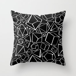 Dice Collection Pattern Throw Pillow