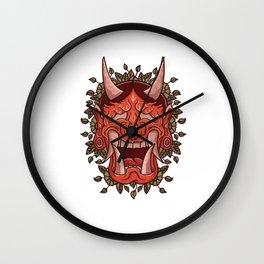 Hannya Demon Oni Demon Japanese Mask  Wall Clock