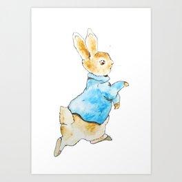 Peter Rabbit Running away Art Print