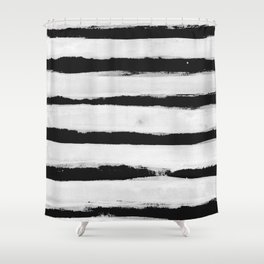 BW Stripes Shower Curtain
