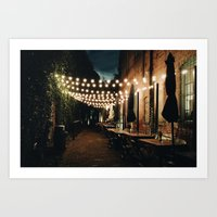 cafe Art Prints featuring Cafe by Jacbo