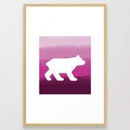 Inverted Pink Bear - Wildlife Series Framed Art Print
