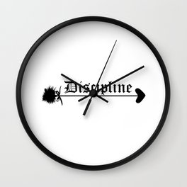 Discipline. Daddy girl submissive domination Wall Clock