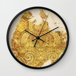 Fine Art of Growing Plants in the Ancient Nature Wall Clock
