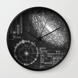 Galaxy and the structure of music! Wall Clock