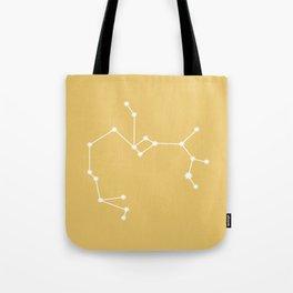 Sagittarius Zodiac Constellation - Golden Yellow Tote Bag