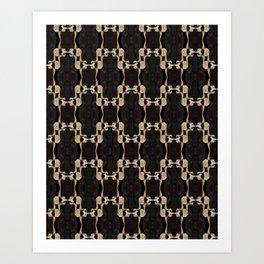 Vertebrae Chains Art Print