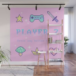Player 2 (pastel) Wall Mural