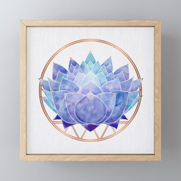 Violet Zen Lotus Framed Mini Art Print