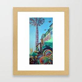 Swirling Skyward Framed Art Print