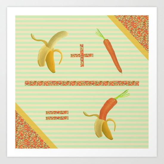 what if a banana fall in love with a carrot ? Art Print