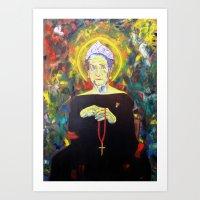 federico babina Art Prints featuring Juan Carlos I as Bernarda Alba. Homage to Federico Garcia Lorca by Antonimo-discipulosinmaestro