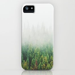 Misty Jasper Pine Forest iPhone Case