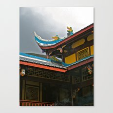 Temple Rooftop Canvas Print