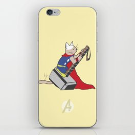 The Catty Thor iPhone Skin